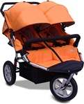CityX3 Swivel Twin Double Stroller in Autumn Orange