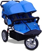 CityX3 Swivel Twin Double Stroller in Pacific Blue