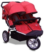 CityX3 Swivel Twin Double Stroller in Alpine Red
