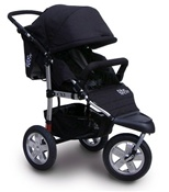 Tike Tech CityX3 Swivel Single Stroller in Classic Black