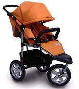 Tike Tech CityX3 Swivel Single Stroller in Autumn Orange