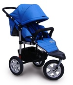 Tike Tech CityX3 Swivel Single Stroller in Pacific Blue