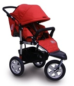 Tike Tech CityX3 Swivel Single Stroller in Alpine Red