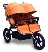 Tike Tech All Terrain X3 Sport Double Stroller in Autumn Orange