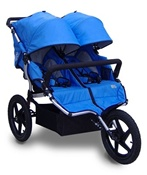 Tike Tech All Terrain X3 Sport Double Stroller in Pacific Blue