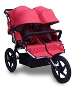 Tike Tech All Terrain X3 Sport Double Stroller in Alpine Red
