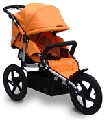 Tike Tech All Terrain X3 Sport Single Stroller in Autumn Orange