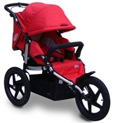 Tike Tech All Terrain X3 Sport Single Stroller in Alpine Red
