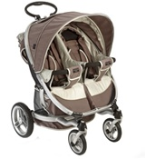 Valco Twin Ion Double Stroller in Almond