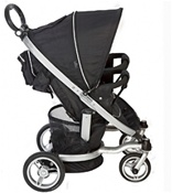 Valco Twin Ion Double Stroller in Raven Black