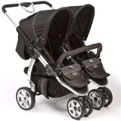 Valco Baby Twin Latitude EX Double Stroller in Licorice