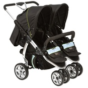 Valco Baby Twin Latitude EX Double Stroller in Silk Black