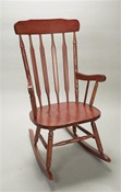 Gift Mark Adult Size Wooden Rocking Chair in Cherry