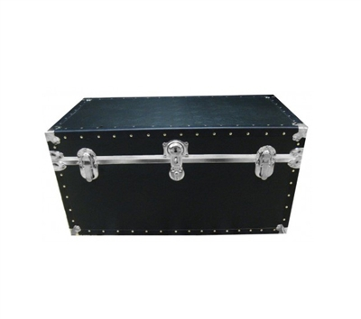 Biltmore Black Vinyl Covered Trunk 502-BK