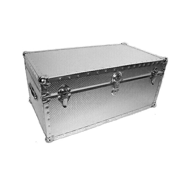 Biltmore Embossed Metal Covered Trunk 36x21x22 - 504-HT