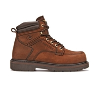Carolina Mens Dark Brown 6-Inch Broad Toe Work Boots