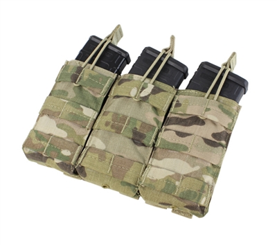 Condor Multicam Triple Open Top M4 Mag Pouch - MA27-008