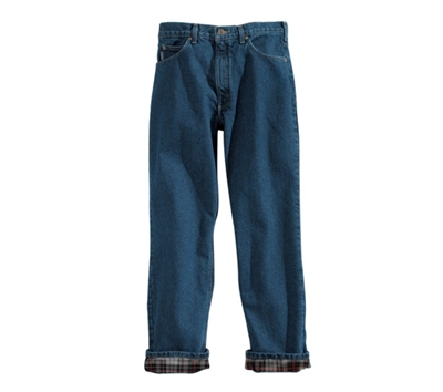 Carhartt Relaxed Fit Straight Leg Flannel Lined Jeans - B172