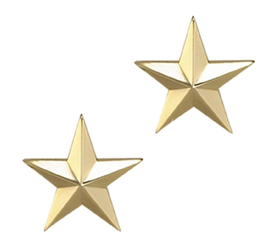 One Star 1 Inch Gold Insignia - 4470G