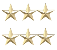 Three Star 1 Inch Gold Insignia - 4472G