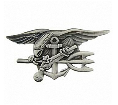 EEI Pewter US Navy Seals Trident Badge - P16409