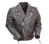 First Manufacturing Leather Jacket - FMM200BMP
