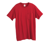 Fruit of the Loom Heavy Cotton Pocket T-Shirt - 3930PR