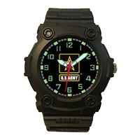 Frontier US Army Logo Analog Watch - Black - 24B