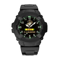Frontier U.S. Marines Black Analog Watch - 24WA