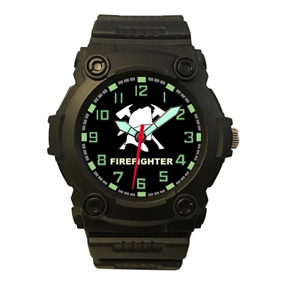 Frontier Firefighters Black Analog Watch - 24Y