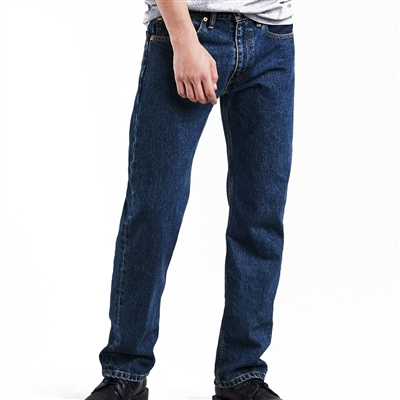 Levis Dark Stonewash 505 Straight Fit Jeans - 505-4886