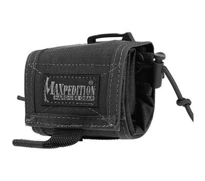 Maxpedition Black Rollypoly Folding Dump Pouch - 0208B