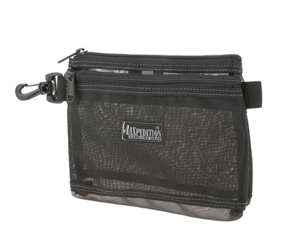 Maxpedition Black Moire Pouch 8 X 6 Mesh - 0809BM