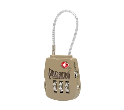 Maxpedition Khaki Tactical Luggage Lock - TSALOCK