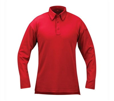 Propper Red Long Sleeve ICE Performance Polos - F531572600