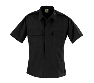 Propper Black Short Sleeve 2-Pocket BDU Shirts - F545638001