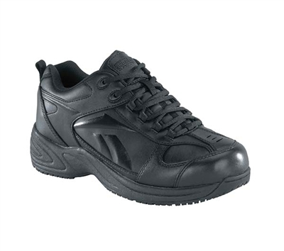 Reebok Mens Black Sure Grip Plus Athletic Oxford Shoe