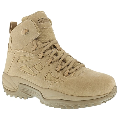 Reebok Mens Desert Tan 6-Inch Side Zipper Boot