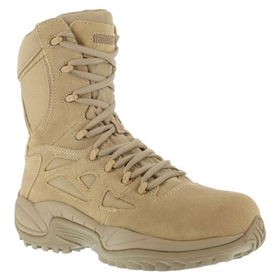 Reebok Desert Tan Stealth Swat Composite Toe with Side Zipper Boot