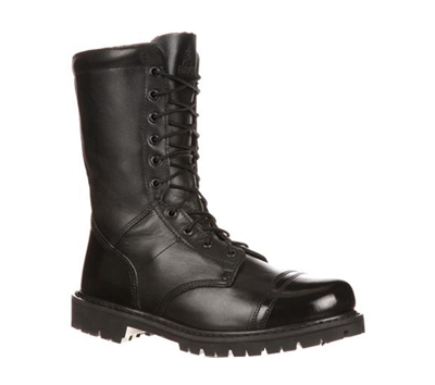Rocky Boots Mens Black 10-Inch Zipper Paraboot Duty Boot