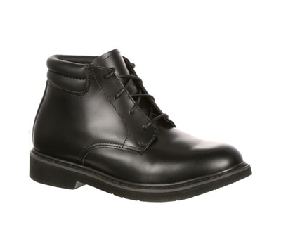 Rocky Boots Mens Black Polishable Dress Leather Chukka Boot