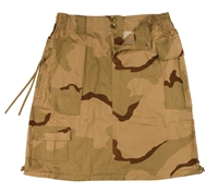 Rothco Tri-Color Desert Camouflage Womens Knee Length Skirt - 1011