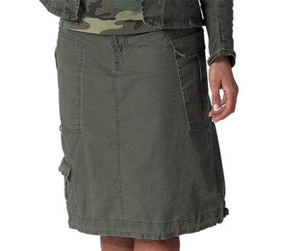Rothco Olive Drab Womens Vintage Knee Length Skirt - 1013