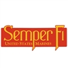Semper Fi / Us Marines Window Decal / Outside