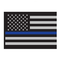 Rothco Thin Blue Line Flag Decal - 1293