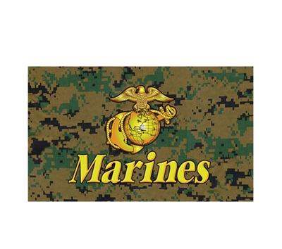 Rothco Marines Woodland Digital Flag - 1494