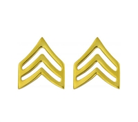 Rothco Polished Gold Sergeant Insignia Set - 1643