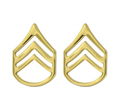 Rothco Polished Staff Sergeant Insignia Set - 1644