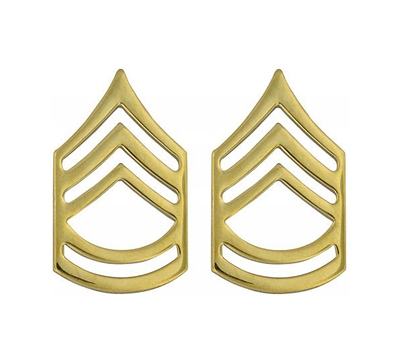 Rothco Polished Sergeant First Class Insignia Set - 1645