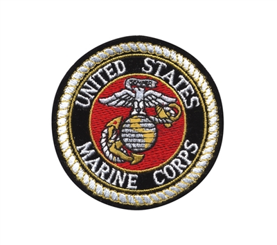 Rothco Deluxe Round USMC 3 Patch - 1649